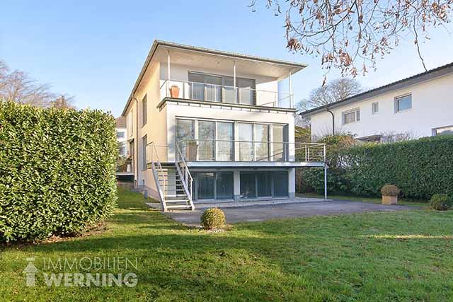 Freistehende Architektenvilla in Bad Honnef Rhöndorf kaufen Einfamilienhaus Luxus Immobilien Werning